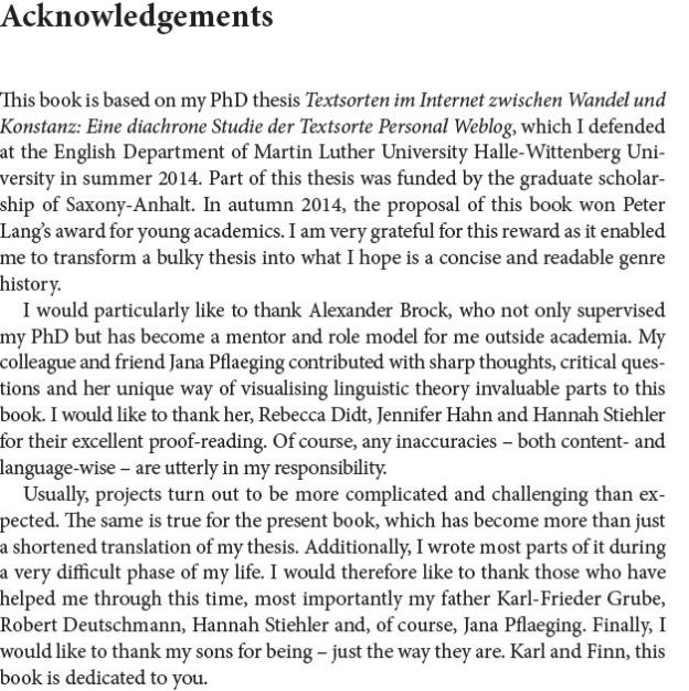 Peter Lang acknowledgements